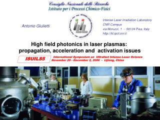 High field photonics in laser plasmas:  propagation, acceleration and  activation issues