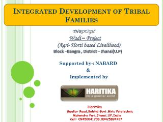 Integrated Development of Tribal Families