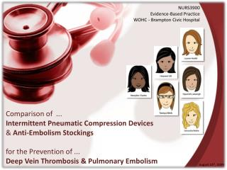 Comparison of  ... Intermittent Pneumatic Compression Devices  &  Anti-Embolism Stockings