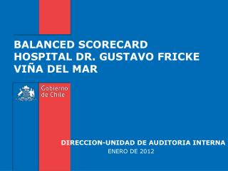 BALANCED SCORECARD HOSPITAL DR. GUSTAVO FRICKE VIÑA DEL MAR