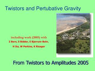 Twistors and Pertubative Gravity