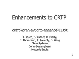 Enhancements to CRTP