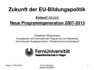Zukunft der EU-Bildungspolitik