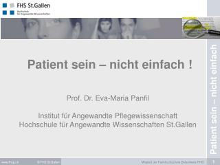 Patient sein – nicht einfach
