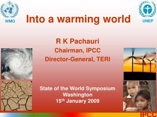 Into a warming world