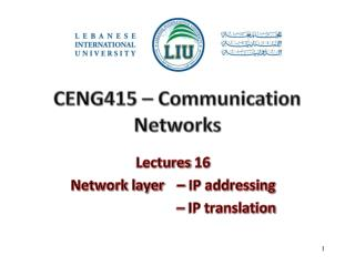 CENG415  –  Communication Networks