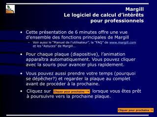 Margill  Le logiciel de calcul d'intérêts  pour professionnels