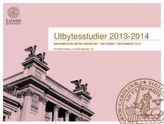 Utbytesstudier 2013-2014