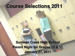 Course Selections 2011
