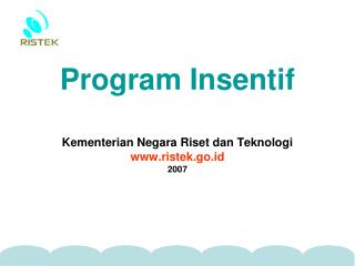 Program Insentif