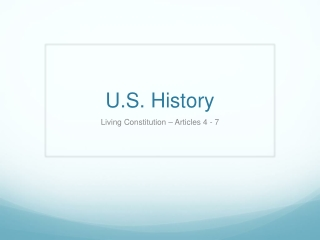 The History of the Constitution after 1787  federal versus state authority and growing democratization