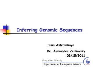 Inferring Genomic Sequences