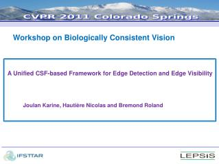 Workshop on Biologically Consistent Vision