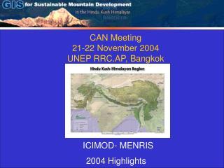 CAN Meeting 21-22 November 2004 UNEP RRC.AP, Bangkok