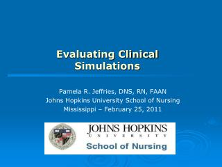 Evaluating Clinical Simulations