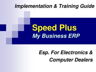 Speed Plus My Business ERP