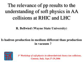 The relevance of pp results to the understanding of soft physics in AA collisions at RHIC and LHC