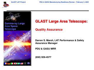 GLAST Large Area Telescope: Quality Assurance