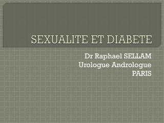 SEXUALITE ET DIABETE
