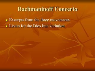 Rachmaninoff Concerto