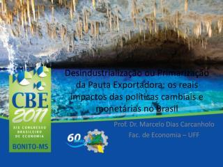 Prof. Dr. Marcelo Dias Carcanholo Fac. de Economia – UFF