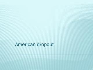 American dropout
