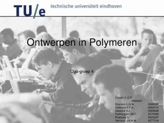 Ontwerpen in Polymeren