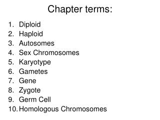Chapter terms: