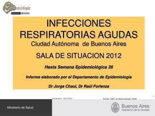 INFECCIONES RESPIRATORIAS AGUDAS Ciudad Autónoma  de Buenos Aires SALA DE SITUACION 2012