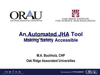 An Automated JHA Tool Making Safety Accessible