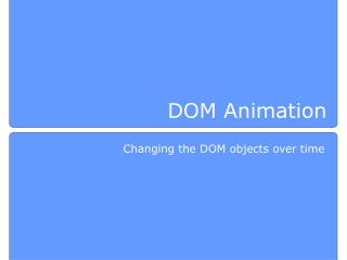 DOM Animation