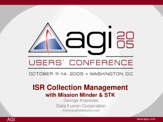 ISR Collection Management with Mission Minder & STK