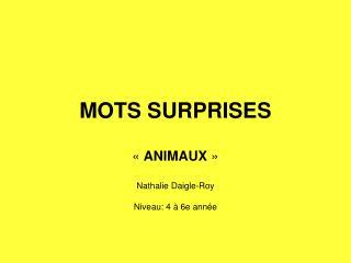 MOTS SURPRISES