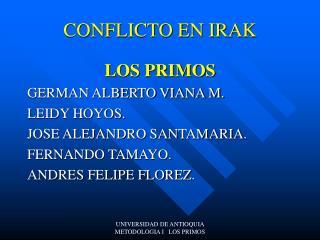 CONFLICTO EN IRAK