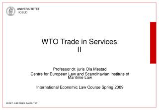 WTO Trade in Services II