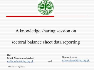 A knowledge sharing session on  sectoral balance sheet data reporting