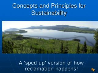 Concepts  and Principles for Sustainability