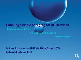 Enabling flexible charging for 3G services