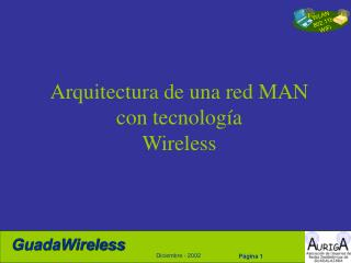 Arquitectura de una red MAN con tecnología Wireless