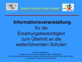Informationsveranstaltung für die Erziehungsberechtigten zum Übertritt an die