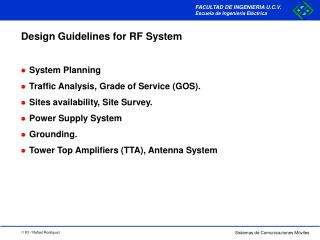 Design Guidelines for RF System