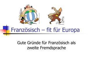Französisch – fit für Europa