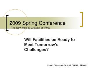 2009 Spring Conference