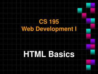 CS 195 Web Development I