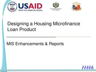 Designing a Housing Microfinance Loan Product