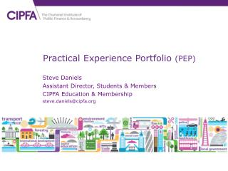 Practical Experience Portfolio  (PEP)