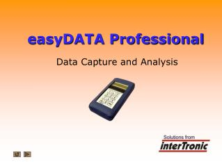 easyDATA Professional Data Capture and Analysis