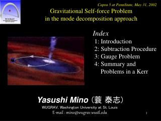 Yasushi Mino ( 蓑 泰志 ) WUGRAV, Washington University at St. Louis E-mail : mino@wugrav.wustl