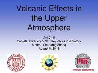 Volcanic Effects in the Upper Atmosphere