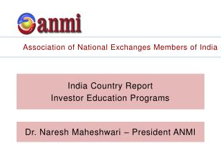 India Country Report Investor Education Programs